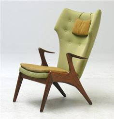 1950s Danish vintage teak chair