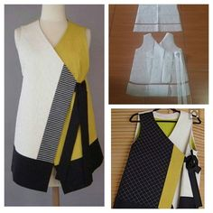 Japanesse vest pattern  Sleeveless top pattern combination. @modelliste (with@)