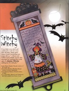 Have needle and thread? Halloween Embroidery, Halloween Cross Stitches, Halloween Quilts, Halloween 2, Fall Cross Stitch, Cross Stitch Finishing, Cross Stitch Samplers, Quilt Stitching, Cross Stitching