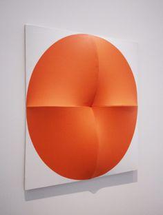 Jan Maarten Voskuil, Around Orange, Acrylic on linen, 78.7 × 61 × 8.9 cm