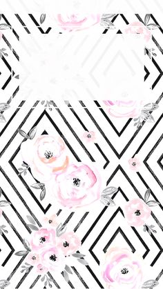 Flower geometric iPhone wallpaper - time background in white.