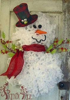 Snowman wreath - So Cute!