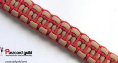 Ladder stitched paracord bracelet with stitched sides.