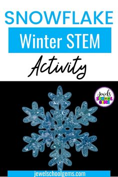 Winter STEM Activities and Challenges for Kids by Jewel's School Gems| Looking for ideas for easy Winter STEM projects? Try this Snowflake Winter STEM challenge! Your elementary students will have fun designing and building a snowflake out of pegs. CLICK TO LEARN MORE!