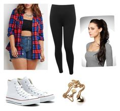 """""""Plus size love it❤️"""" by cherokee-thompson on Polyvore featuring M&Co and Converse"""