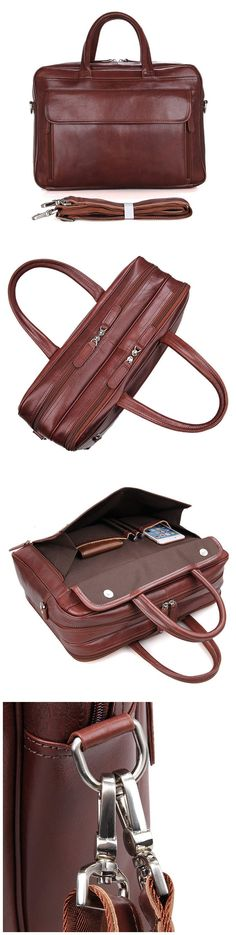 732d9241f9 ROCKCOW Full Grain Leather Briefcase Best Messenger Bag Men s Business Laptop  Satchel Leather Briefcase