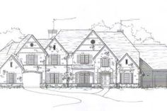 Awesome floor plan with 4 bedrooms easily fit upstairs & porte cochere Porte Cochere, 2 Story Houses, Two Story Homes, Residential Interior Design, Interior And Exterior, Story Planning, Dream House Plans, Dream Houses, Bay Window