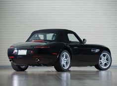 Black US-spec BMW with the roof up Bmw Z8, Amazing Cars, Dream Cars, Convertible, Vehicles, Black, Autos, Black People, Car