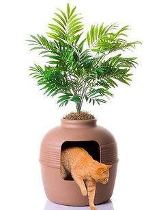 Good Pet Stuff Hidden Cat Litter Box Pet NEW FAST SHIP 42 inches with Plant
