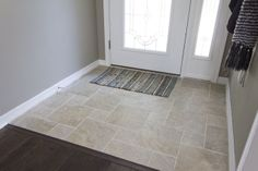 looks so much like travertine, but it's actually porcelain which is great for easy maintenance