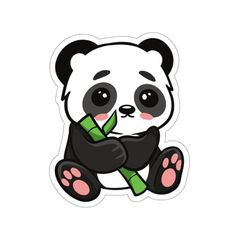 Cool Stickers, Laptop Stickers, Happy Stickers, Bumper Stickers, Cute Panda Wallpaper, Cute Patterns Wallpaper, Baby Panda Bears, Baby Pandas, Happy Panda