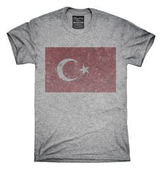 Retro Vintage Turkey Flag T-Shirts, Hoodies, Tank Tops