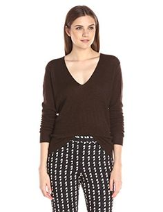cc7822cab4e Theory Womens Adrianna Rl Feather Sweater Carob Small   Click image for  more details.-. Sweater FashionCuffsRib KnitTheoryCashmere SweatersSweater  ...