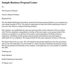7 Best Business Proposal Letter Images Business Proposal Examples