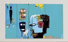 Artwork by Jean Michel Basquiat, Blue Heads, Made of Acrylic and oilstick on canvas Jean Michel Basquiat Art, Jm Basquiat, Basquiat Tattoo, Basquiat Paintings, Gouache, Neo Expressionism, Arte Pop, Art Graphique, Outsider Art