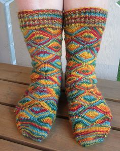 Ravelry: Diamondback Socks pattern by Kirsten Hall