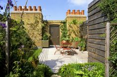 Roof terrace in London