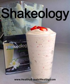Strawberry Shortcake recipe: 1 pkg Vanilla Shakeology cup frozen pineapple chunks 5 sliced strawberries cup almond milk For more information on Shakeology visit my site Shakeology Shakes, Beachbody Shakeology, Vanilla Shakeology, Isagenix Shakes, Chocolate Shakeology, Protein Shake Recipes, Smoothie Recipes, Protein Shakes, Protein Smoothies