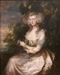 Thomas Gainsborough (British, 1727-1788)  Portrait of  Mrs. Thomas Hibbert    1780's    oil on canvas, Neue Pinakothek, Munich