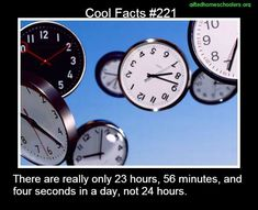 Cool facts #221  http://en.wikipedia.org/wiki/Sidereal_time