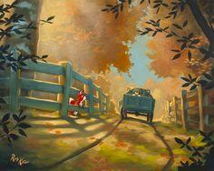 Rob Kaz Art - Fox And The Hound 16x20