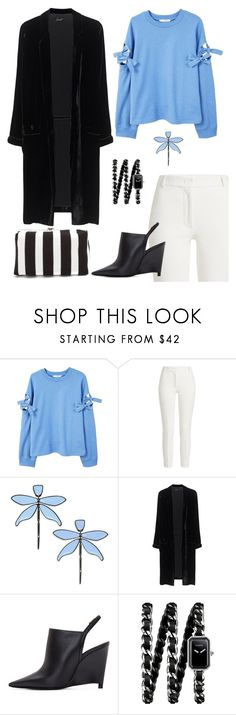 """Dragonfly."" by catpaw29 ❤ liked on Polyvore featuring MANGO, Joseph, Tory Burch, Jadicted, Lanvin, Chanel and Proenza Schouler"