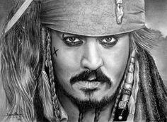 Cap. Jack Sparrow Grafite em A3