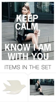 """""""KEEP CALM"""" by beleev ❤ liked on Polyvore featuring art"""