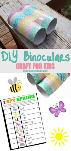 Have an amazing time with your kids when you make this binocular craft! So easy, affordable and quick to make, these children's toy binoculars are enjoyable and educational and would make a great game idea for kids parties! #easypeasycreativeideas #easypeasy #crafts #craftsforkids #kidscrafts #kids #recycle #recycledcrafts #toiletpapercrafts #toiletpaper #partyideasforkids #kidsparty #kidspartyideas #kidsparties