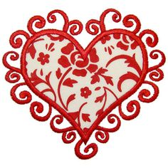 See It All :: Scroll Heart Applique