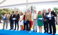 En la entrega de Banderas Azules de la Comunitat Valenciana 2014