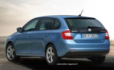 SKODA Rapid Combi 2013 - (automobile-magazine.fr) Automobile, Cars, Vehicles, Magazine, Car, Autos, Magazines, Warehouse, Vehicle