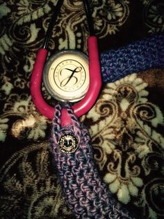 A personal favorite from my Etsy shop https://www.etsy.com/listing/245784273/skinny-crochet-stethoscope-cover