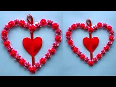 Valentine Day Gift Ideas/Valentine's Day Wall Hanging/Paper Flower Bouquet/Heart Shaped/ - YouTube Vj Art, Flower Making, Valentine Day Gifts, Decorative Items, Paper Flowers, Heart Shapes, Arts And Crafts, Bouquet, Gift Ideas