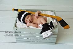 Newborn Hockey Outfit Newborn Photography Prop by Thatscrocheted