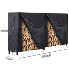 Himal Outdoor Firewood Racks Cover Log Rack Waterproof Firewood Cover Fit 8FT Wood Rack ** Check out this great product.-It is an affiliate link to Amazon.