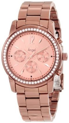 Invicta Angel Multi-Function Pink Dial Brown Ion-plated Ladies Watch 11773 -- Hurry! Check out this great product