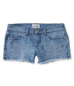 Printed Bandana Denim Shorts from Aeropostale