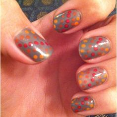 Latest nail polish idea. Bobby pin and four different nail colors. It was super easy and turned out great!
