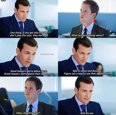 a True mentor Harvey Specter Suits, Suits Harvey, Suits Tv Series, Suits Tv Shows, Donna Suits, Suits Quotes, Suits Usa, Gabriel Macht, Red Band Society