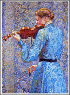 Théo Van Rysselberghe (1862-1926), La Violoniste - 1903