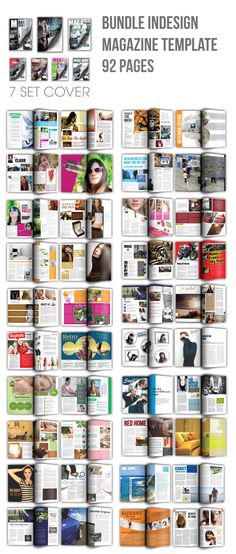 Best Indesign Magazine Template Bundle (92 Pages)