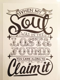 When my soul was in the lost and found... by Matt Carter - Skillshare