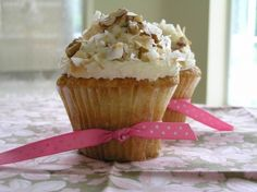 Italian Cream Cupcakes with Coconut Pastry Cream Filling and Fluffy Mascarpone Frosting via Tasty Kitchen Toasted Pecans, Toasted Coconut, Coconut Cream, Italian Cream Cupcakes, Filled Cupcakes, Tasty Kitchen, Kitchen Stuff, Cupcake Cakes, Cup Cakes