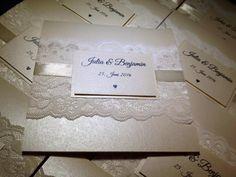 Einladungskarten zur Hochzeit mit Spitze ecru von mycreativehobby