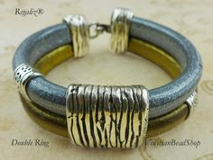 If you can cut and glue, you can make this popular Regaliz® bracelet in just a few minutes. Free Instructions & directions http://www.venetianbeadshop.com/Regaliz-Leather-2-Strand_c_1291.html