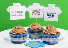 Father's Day T-shirt Cupcakes & printable