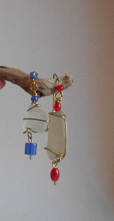 Red White and Blue 4Th of July sea glass by SeaGlassStyle on Etsy, $25.00