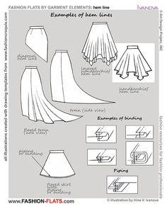 examples hem line fashion flats