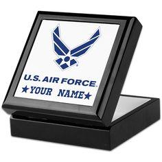 U.S. Air Force Personalized Gift Keepsake Box on CafePress.com